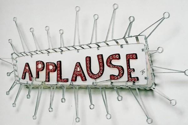 Applause sculpture sign by Terry Border