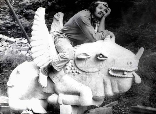 bruno weber riding a creature